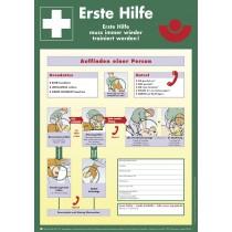 Schild Anleitung zur Ersten Hilfe